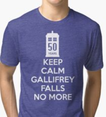 Gallifrey Falls No More Doctor Who - T-shirt Tri-blend T-Shirt