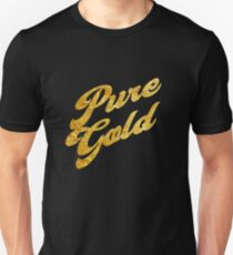 Pure Gold - Gold Typography Unisex T-Shirt