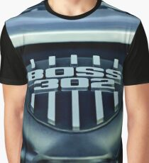 Ford Mustang Boss 302 Engine -0406c Graphic T-Shirt