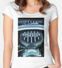 Ford Mustang Boss 302 Engine -0406c Women's Fitted Scoop T-Shirt