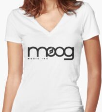- Moog Synthesizers Logo - Women's Fitted V-Neck T-Shirt