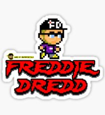 Freddie Dredd - Retro Gaming Logo Sticker