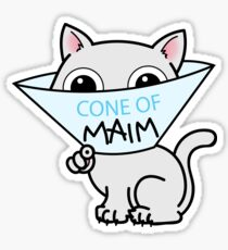 Payback - Cone of Maim - Kitty Cat Shame Sticker