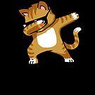 «Dabbing Cat Funny Shirt Dab Hip Hop Dabbing Kitten» de vomaria
