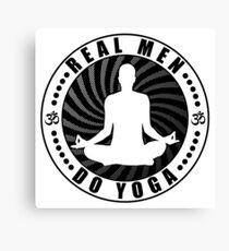 Real Men Do Yoga T-Shirt Design. Canvas Print