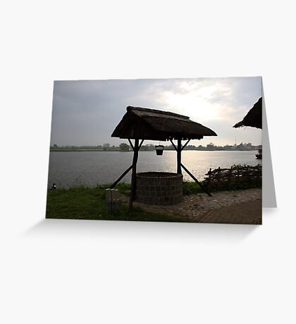 River IJssel Early Morning View Greeting Card