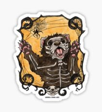 Halloween Ferret Sticker