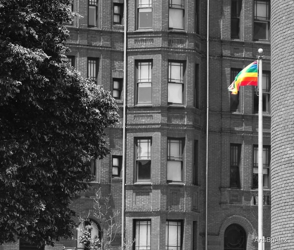Pride flag in Baltimore. by ArtsByAlex