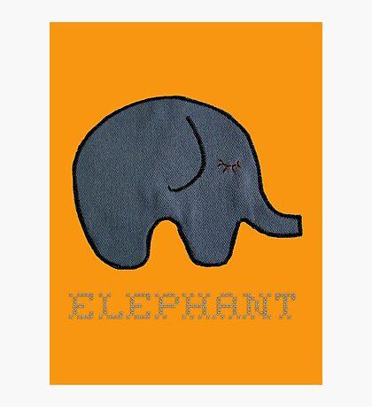 (r)ELEPHANT & cute Baby Elephant Photographic Print