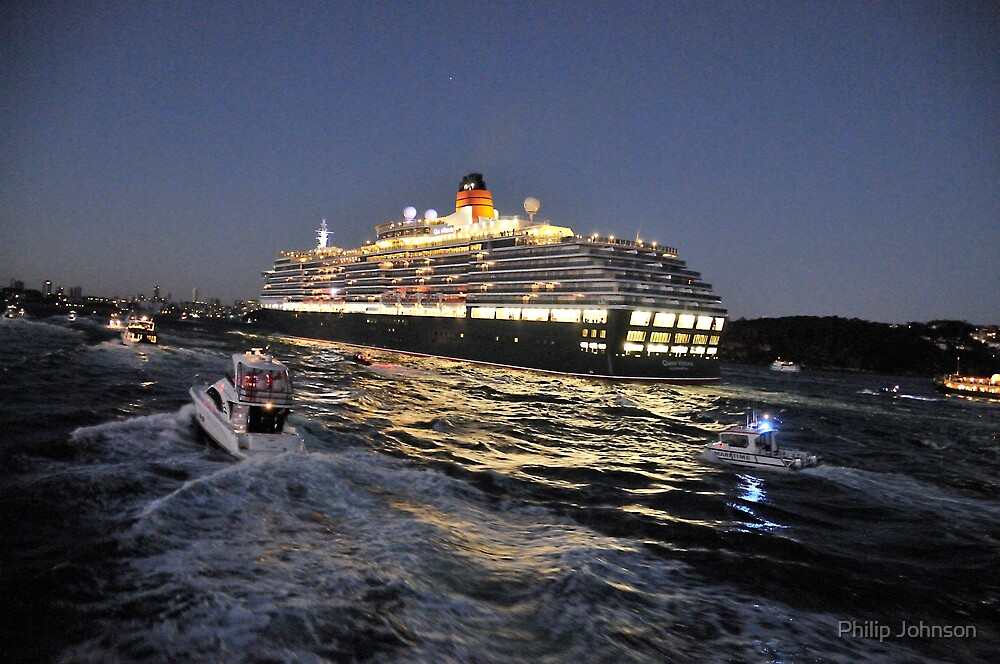 A City On The Move - Queen Victoria, Sydney Harbour, Sydney Australia by Philip Johnson
