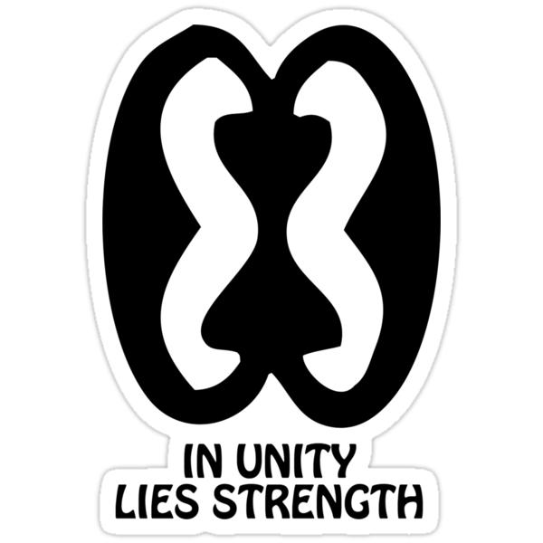 Quot T Shirt Adinkra Symbol Strength Through Unity Quot Stickers