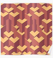 Geometric illuzion pattern. Poster
