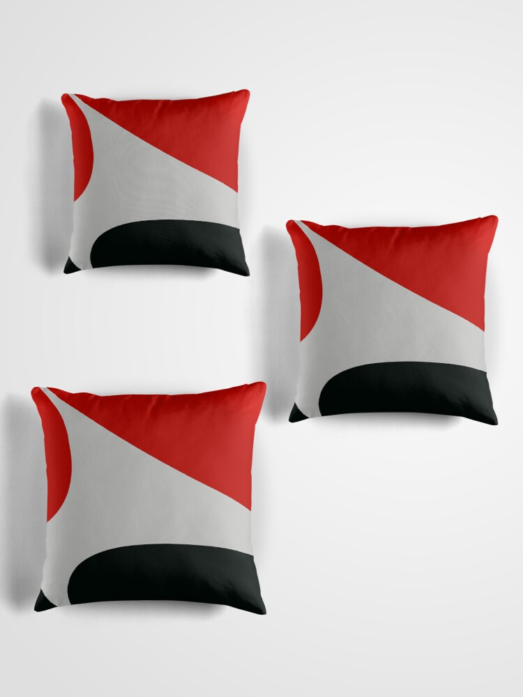 Blackwhite red design Throw Pillows by RosiLorzRedbubble