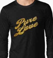 Pure Love - Gold Typography Long Sleeve T-Shirt