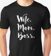 Ehefrau Mom Boss, Wifey, Boss Dame Unisex T-Shirt