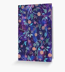 Loose painterly flowers Greeting Card
