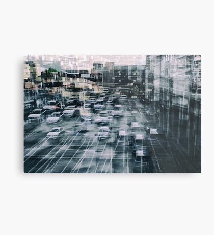 Parking Chaos Metal Print