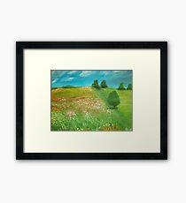 Polish meadow Framed Print