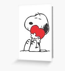 SNOOPY LOVE HUGGING Greeting Card