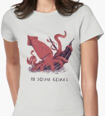 Squid Goals Women's Fitted T-Shirt