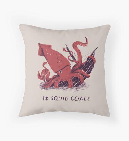 Squid Goals Throw Pillow