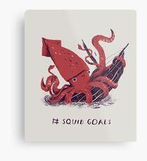 Tintenfisch Ziele Metallbild