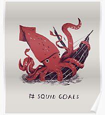Squid Goals Poster