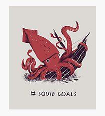 Squid Goals Photographic Print