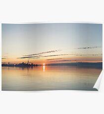 Toronto - Silky Skyline Sunrise  Poster