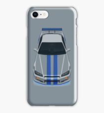 The Gray and Blue iPhone Case/Skin