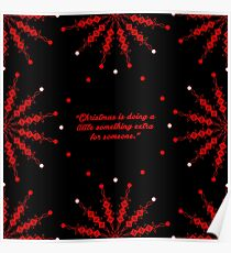 "Christmas is... ""Charles M. Schulz"" Christmas Quote (Square) Poster"