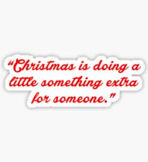 """Christmas is doing... """"Charles M. Schulz"""" Christmas Quote Sticker"""