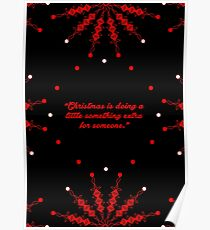 "Christmas is doing... ""Charles M. Schulz"" Christmas Quote Poster"