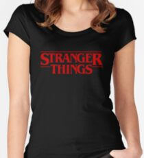 Stranger Things (2016) TV Series Women's Fitted Scoop T-Shirt