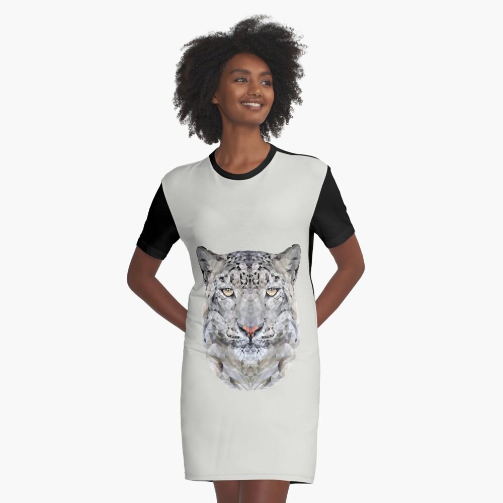 The Snow Leopard Graphic T-Shirt Dress Front