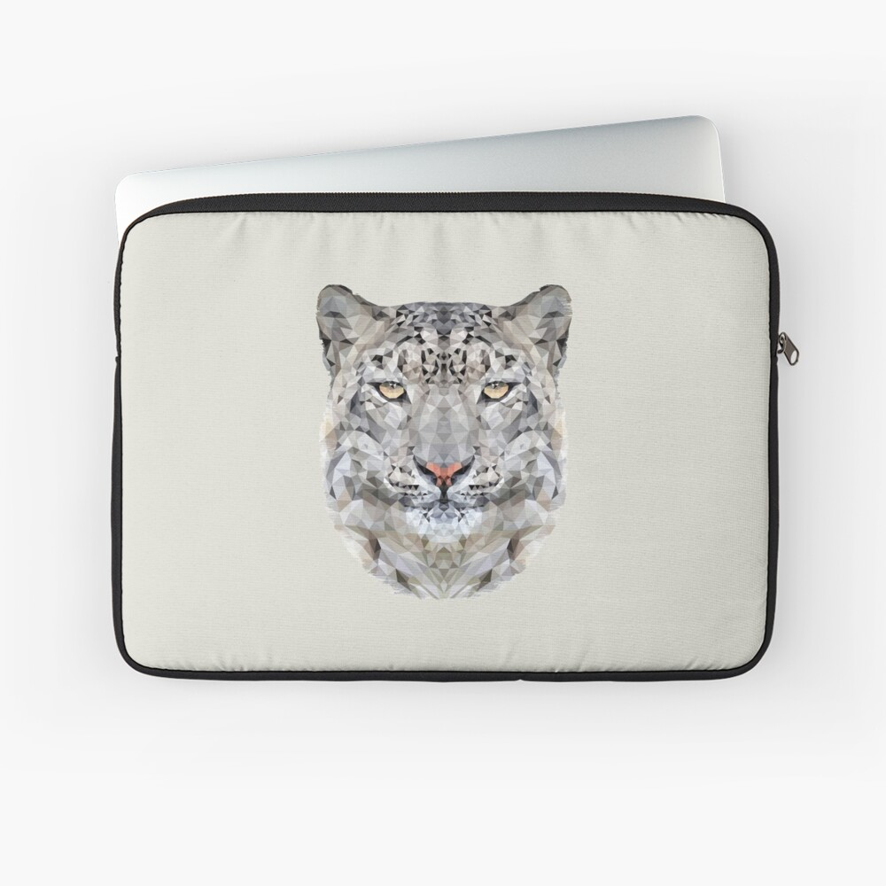 The Snow Leopard Laptop Sleeve Front