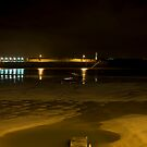 st ives harbour, night by nakomis