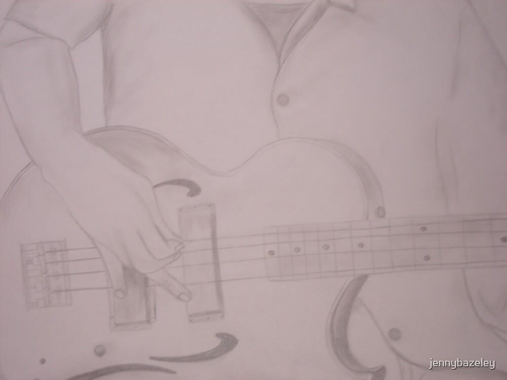 guitar player by jennybazeley