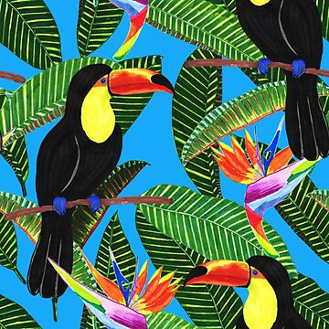 Toucan in jungle by ullithehat