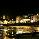 st ives harbour pano night by nakomis