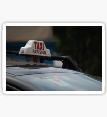 Taxi Parisien Sticker