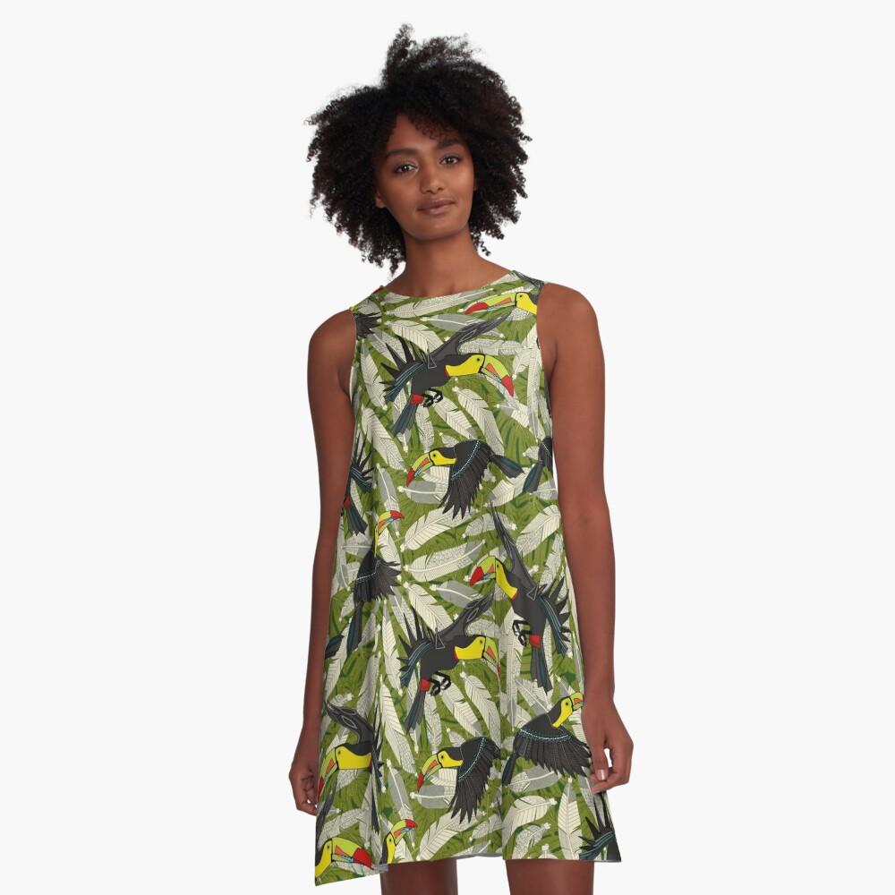 toucan jungle A-Line Dress