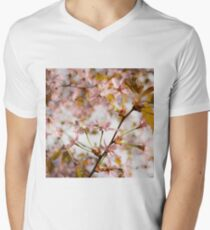 Cherry Blossom Mens V-Neck T-Shirt