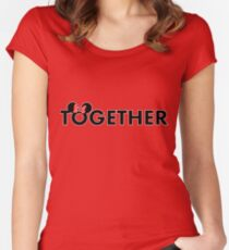 Together Forever Couple (Minnie Together) Women's Fitted Scoop T-Shirt