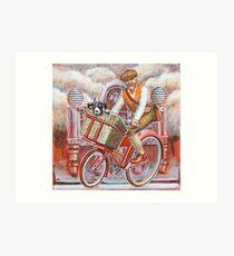 Tweed Runner on Red Pashley Art Print