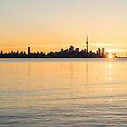 Soft Gold Toronto Sunrise by Georgia Mizuleva
