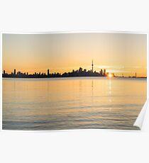 Soft Gold Toronto Sunrise Poster