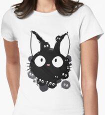 Susuwatari Cat Womens Fitted T-Shirt