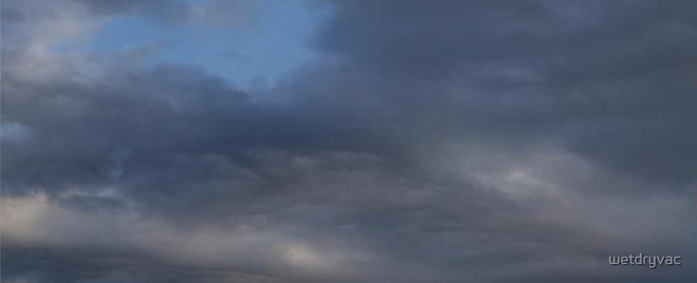 HDR Composite - Lovely Blue and and Navy Clouds by wetdryvac