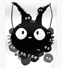 Susuwatari Cat Poster